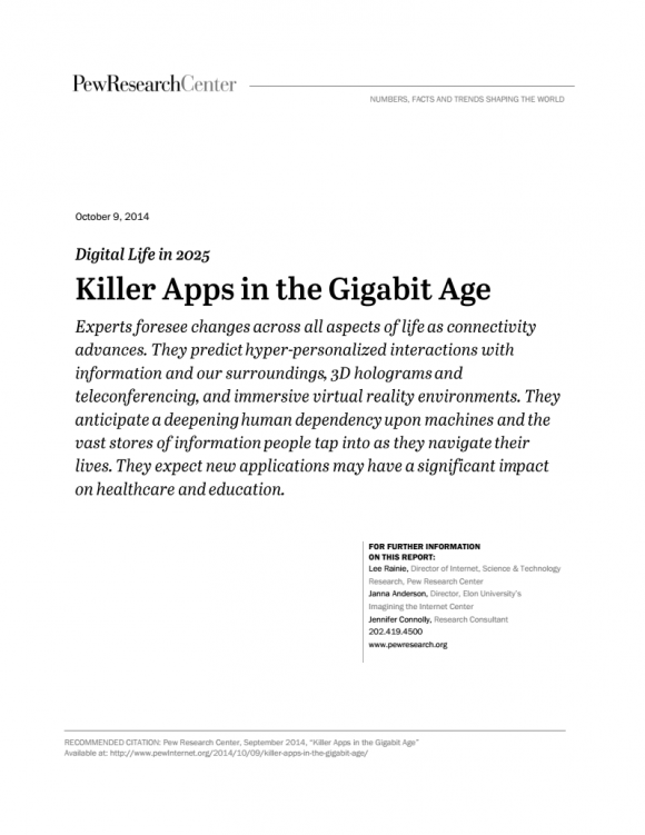 Killer Apps in the Gigabit Age