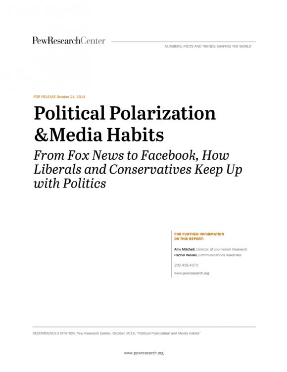 Political Polarization and Media Habits