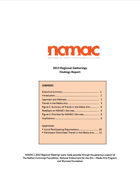 2013 Regional Gatherings Findings Report
